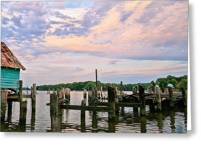 Delmarva Greeting Cards - Aqua Marine Greeting Card by JC Findley