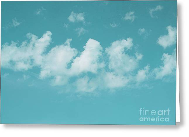 Aqua Sky Meditation Greeting Card by Irina Wardas