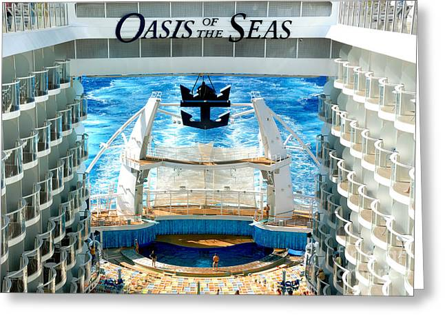 Theater Of The Sea Greeting Cards - Aqua Theatre Oasis of the Seas Greeting Card by Amy Cicconi