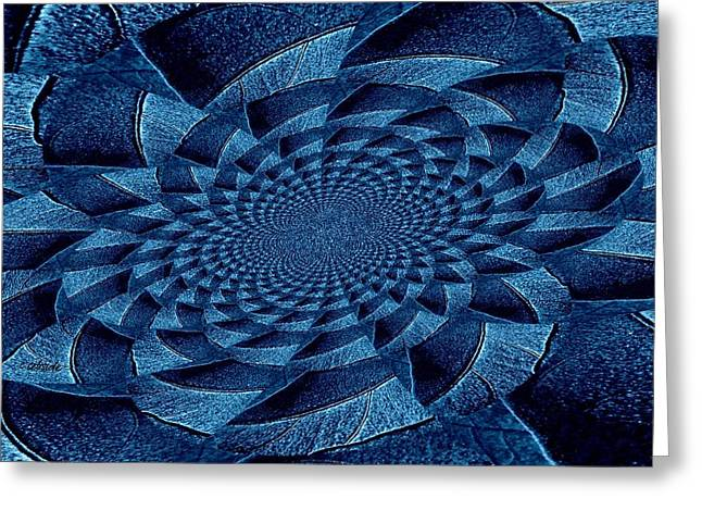 Hypnotic Abstract Greeting Cards - Aqua Tint Memories Greeting Card by Chris Berry