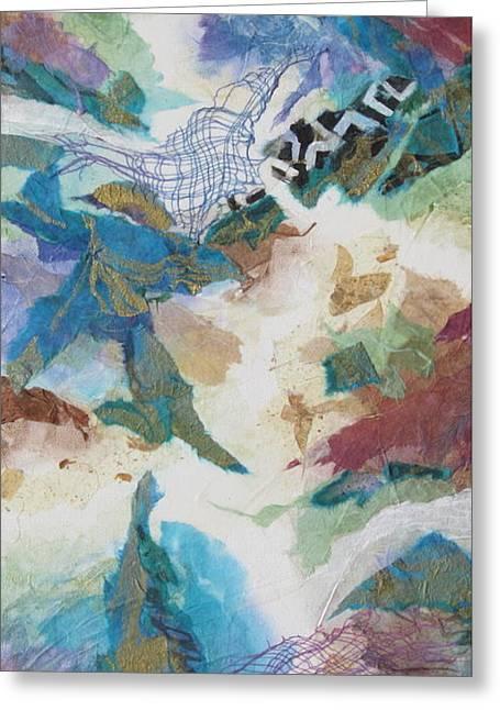 Aquacade Greeting Card by Deborah Ronglien