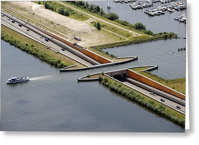Gelderland Greeting Cards - Aquaduct, Harderwijk Greeting Card by Bram van de Biezen