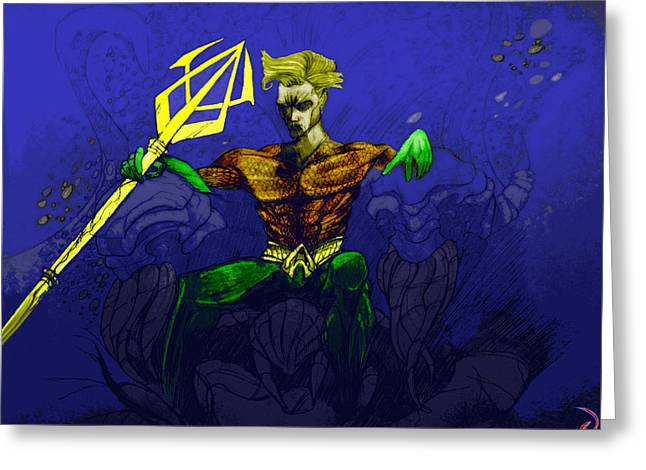 Aquaman Greeting Cards - Aquaman Greeting Card by Jazzboy