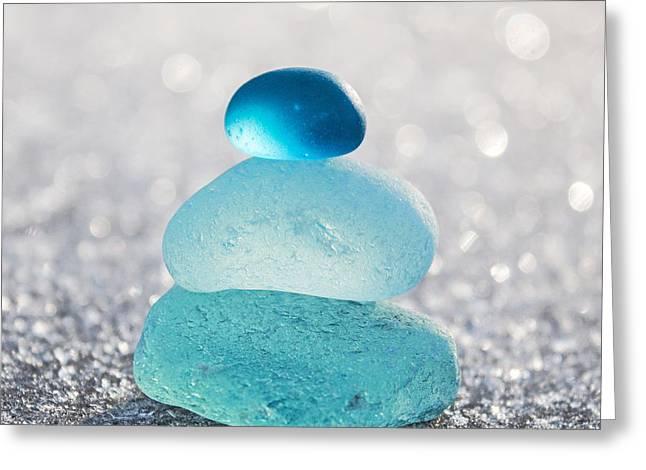 Barbara Mcmahon Greeting Cards - Aquamarine Ice Light Greeting Card by Barbara McMahon