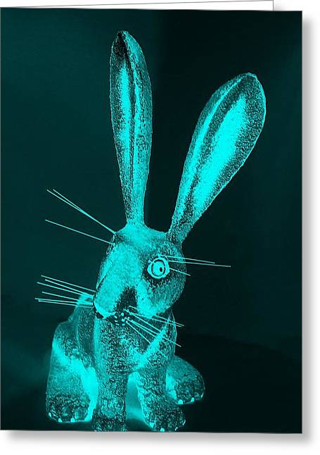 Bugs Bunny Greeting Cards - Aquamarine New Mexico Rabbit Greeting Card by Rob Hans