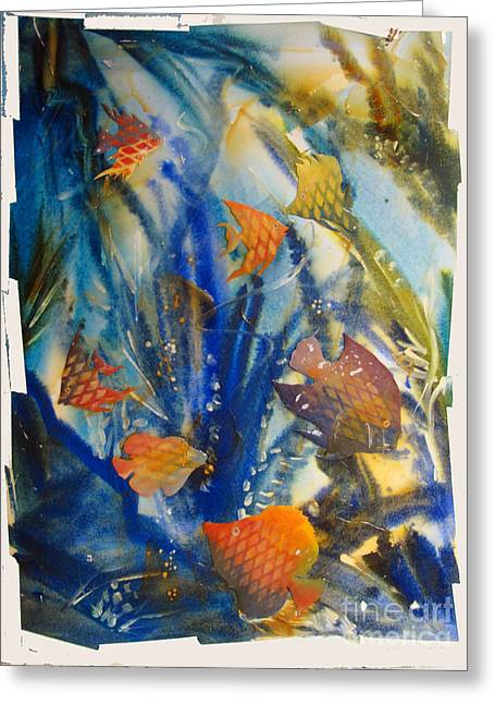 Aquarium Fish Greeting Cards - AQUARIUM 2 archived work Greeting Card by Charlie Spear