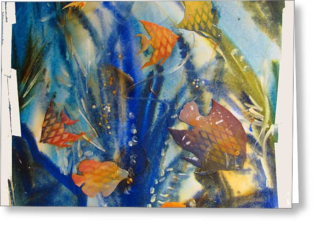 AQUARIUM 2 archived work Greeting Card by Charlie Spear