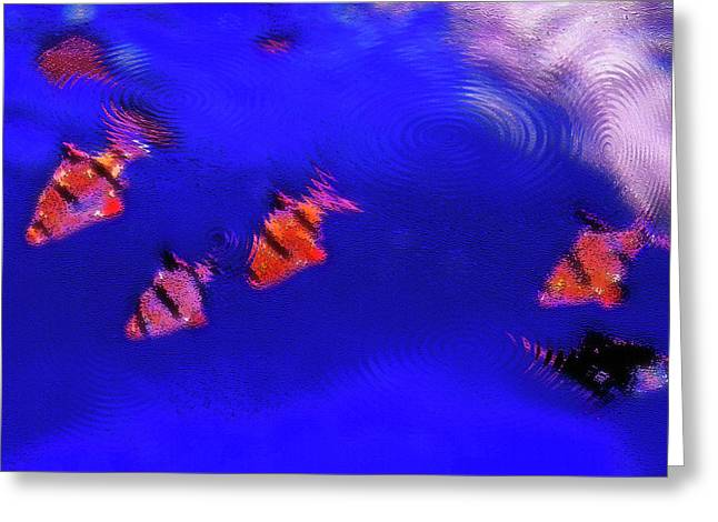 Artistic Fish Abstraction Greeting Cards - Aquarium Art 11 Greeting Card by Steve Ohlsen