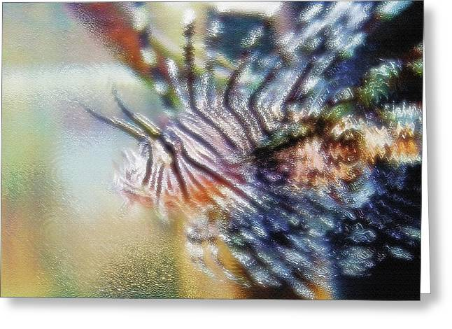 Artistic Fish Abstraction Greeting Cards - Aquarium Art 12 Greeting Card by Steve Ohlsen