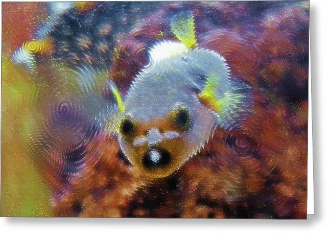 Puffer Fish Digital Greeting Cards - Aquarium Art 16 Greeting Card by Steve Ohlsen