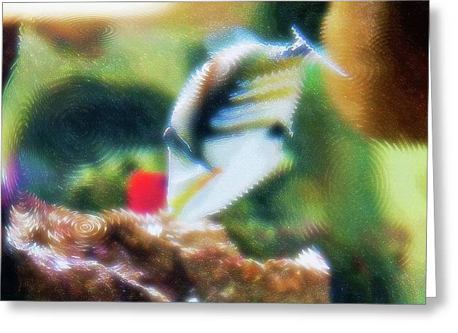 Artistic Fish Abstraction Greeting Cards - Aquarium Art 17 Greeting Card by Steve Ohlsen