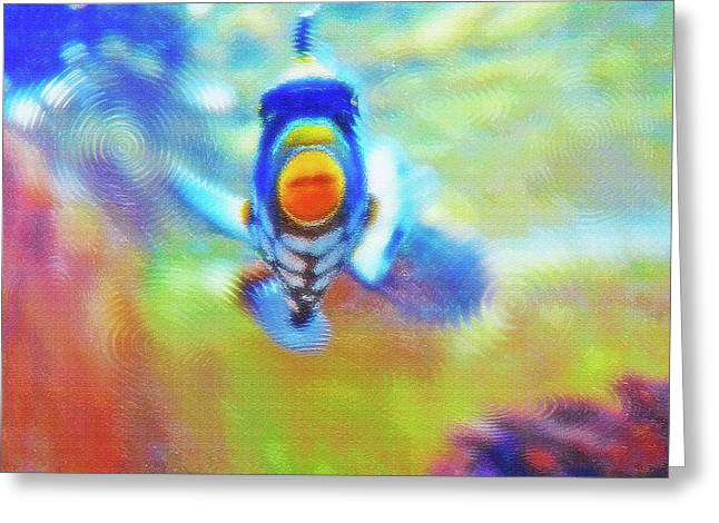 Artistic Fish Abstraction Greeting Cards - Aquarium Art 18 Greeting Card by Steve Ohlsen