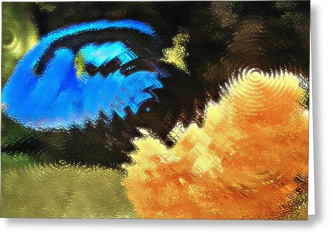 Artistic Fish Abstraction Greeting Cards - Aquarium Art 2 Greeting Card by Steve Ohlsen