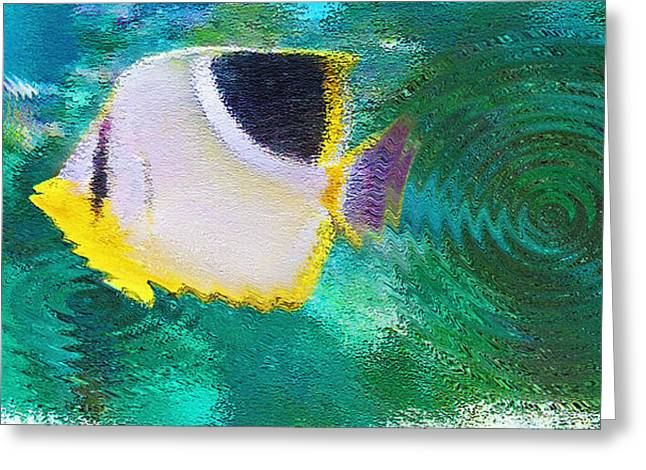 Artistic Fish Abstraction Greeting Cards - Aquarium Art 29 Greeting Card by Steve Ohlsen