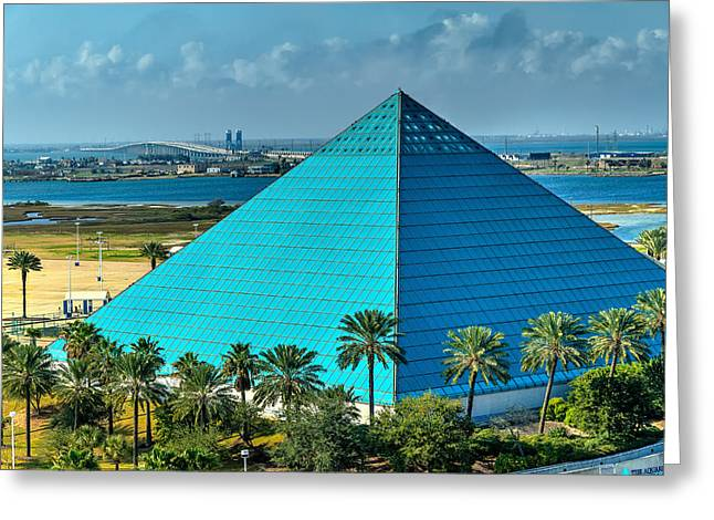 Houston Greeting Cards - Aquarium in a Pyramid Greeting Card by Tim Stanley