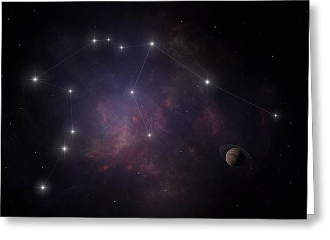Zodiac Ring Greeting Cards - Aquarius Greeting Card by Ian Merton