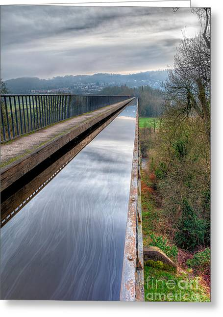 1805 Greeting Cards - Aqueduct Greeting Card by Adrian Evans