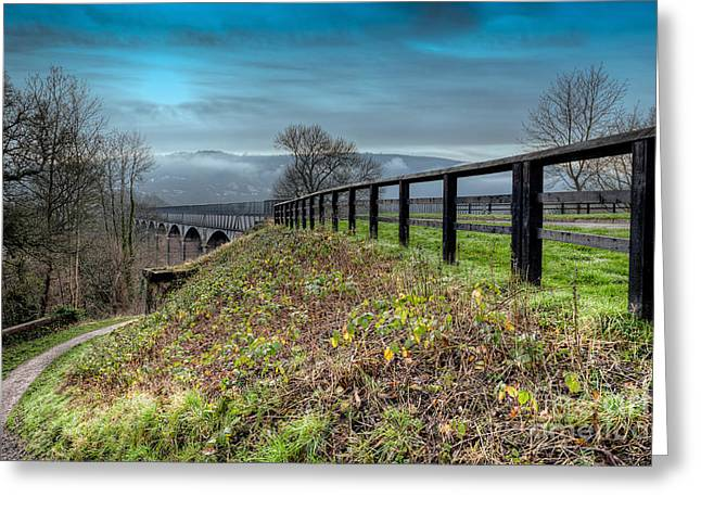 1805 Greeting Cards - Aqueduct at Pontcysyllte Greeting Card by Adrian Evans