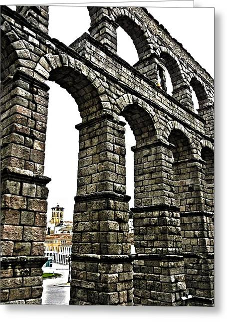 Geschichte Greeting Cards - Aqueduct of Segovia - Spain Greeting Card by Juergen Weiss