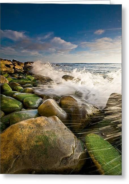 Ocean Art Photography Greeting Cards - Aqueous Greeting Card by Ryan Weddle