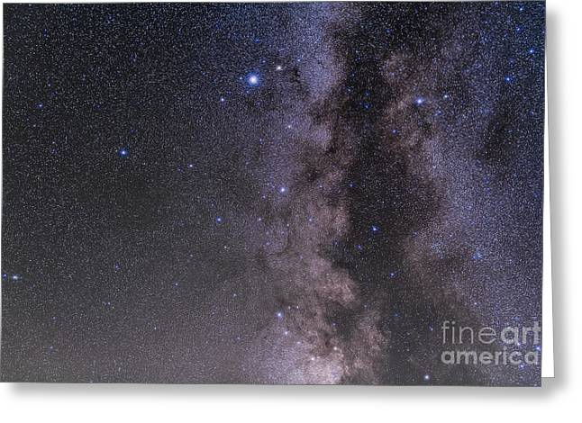 Double Cluster Greeting Cards - Aquila Constellation Greeting Card by Alan Dyer