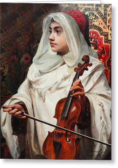 Religious Art Digital Art Greeting Cards - Arab Fiddler Greeting Card by Pedro Americo