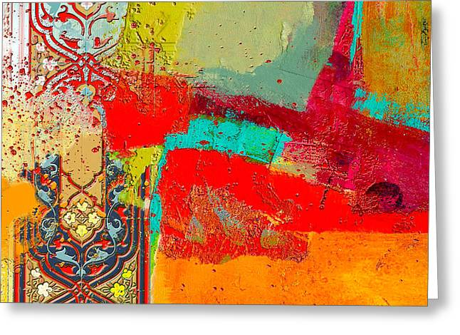 Motif One Greeting Cards - Arabesque 35 Greeting Card by Shah Nawaz