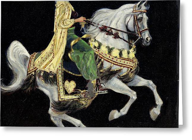 Show Horse Greeting Cards - Arabian Costume Horse Greeting Card by Don  Langeneckert