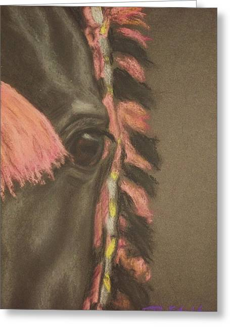 Equestrian Prints Pastels Greeting Cards - Arabian eyes Greeting Card by Dorota Zdunska