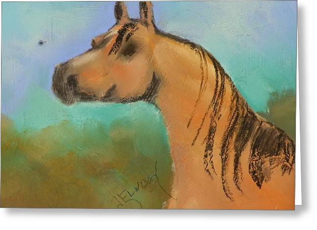 Soft Background Pastels Greeting Cards - Arabian Greeting Card by Jann Elwood