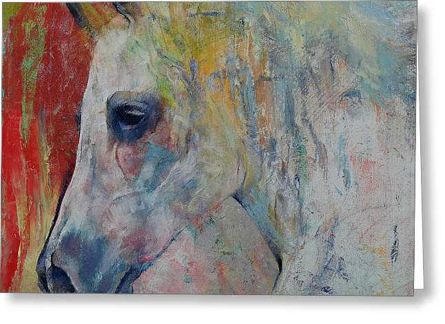 Cheval Greeting Cards - Arabian Greeting Card by Michael Creese