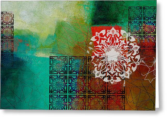 Motif One Greeting Cards - Arabic Motif 6 Greeting Card by Corporate Art Task Force