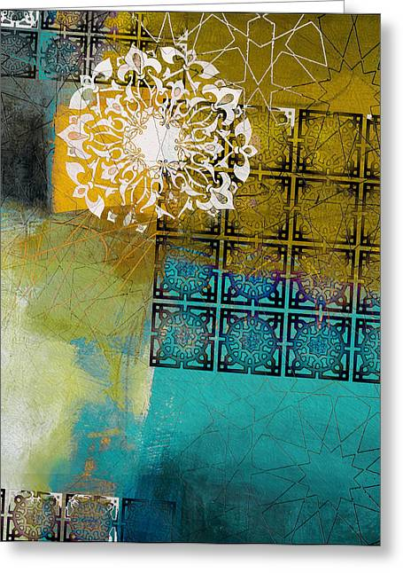 Calligraphy Print Paintings Greeting Cards - Arabic Motif 6B Greeting Card by Corporate Art Task Force
