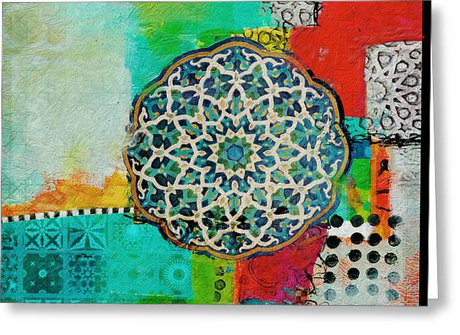 Motif One Greeting Cards - Arabic Motif 7 Greeting Card by Corporate Art Task Force