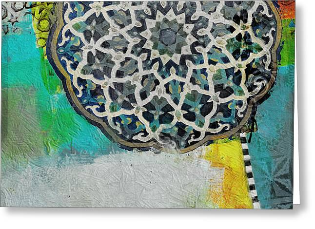 Motif One Greeting Cards - Arabic Motif 7D Greeting Card by Corporate Art Task Force
