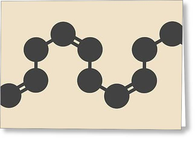 Arachidonic Acid Molecule Greeting Card by Molekuul