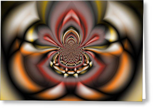 Manley Greeting Cards - Arachnid - A Fractal Abstract Greeting Card by Gina Lee Manley