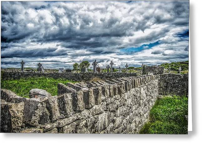 Aran Islands Greeting Cards - Aran Island Cemetary Ireland Greeting Card by A Different Brian Photography