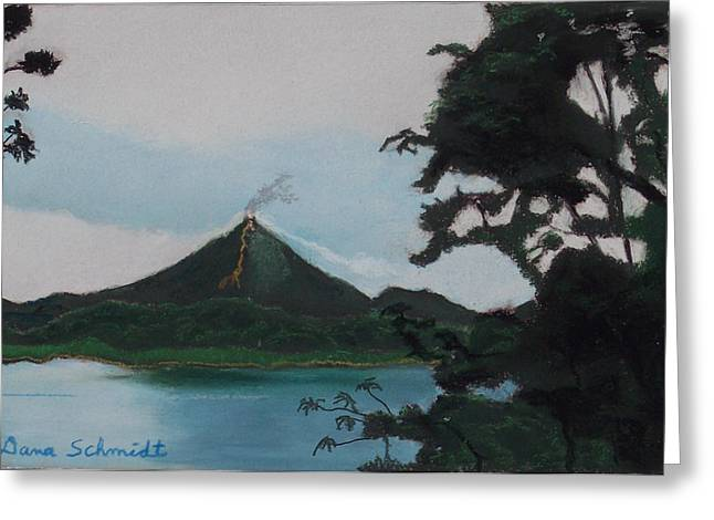 Costa Pastels Greeting Cards - Aranal Volcano Costa Rica Greeting Card by Dana Schmidt