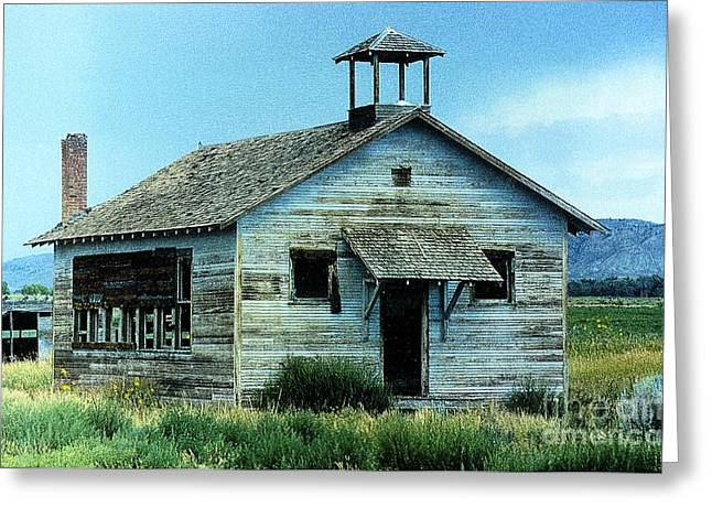 Abandoned School House. Greeting Cards - Arapahoe School House Greeting Card by Carole  Martinez