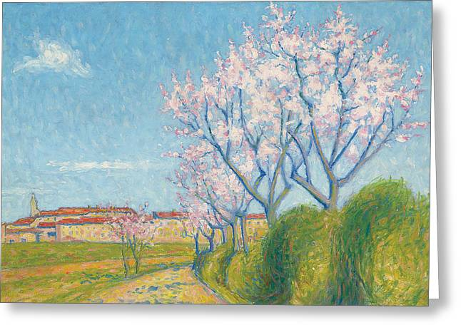 In Bloom Greeting Cards - Arbes en Fleurs a lEntree de Cailhavel Greeting Card by Achille Lauge