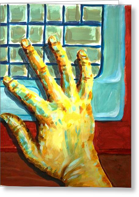 Index Finger Paintings Greeting Cards - Arbitrary Colors Greeting Card by Stacy C Bottoms