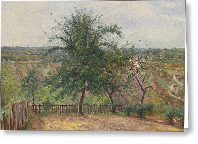 Champs Greeting Cards - Arbor Dans Un Champ Greeting Card by Victor Alfred Paul Vignon