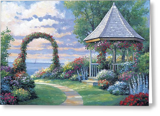Zaccheo Greeting Cards - Arbor Light Greeting Card by John Zaccheo