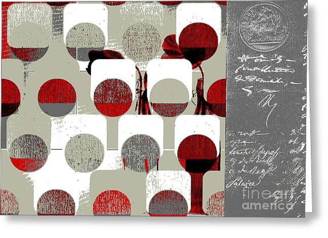 Repetitive Greeting Cards - Arbrabstract - 28a Greeting Card by Variance Collections