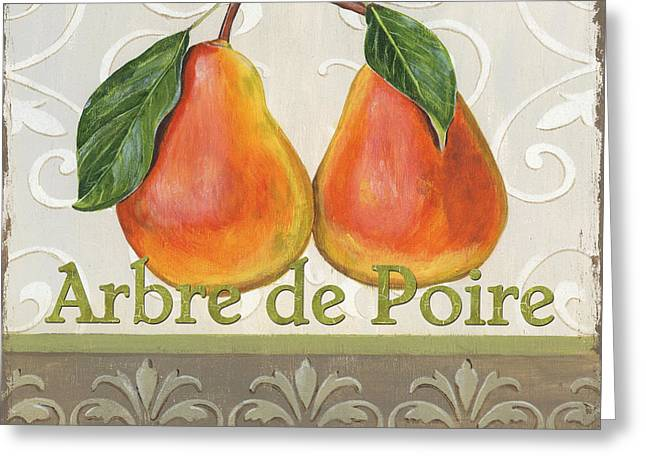 Kitchen Greeting Cards - Arbre de Poire Greeting Card by Debbie DeWitt