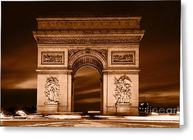 Champs Greeting Cards - Arc de Triomphe Paris France Greeting Card by Michal Bednarek