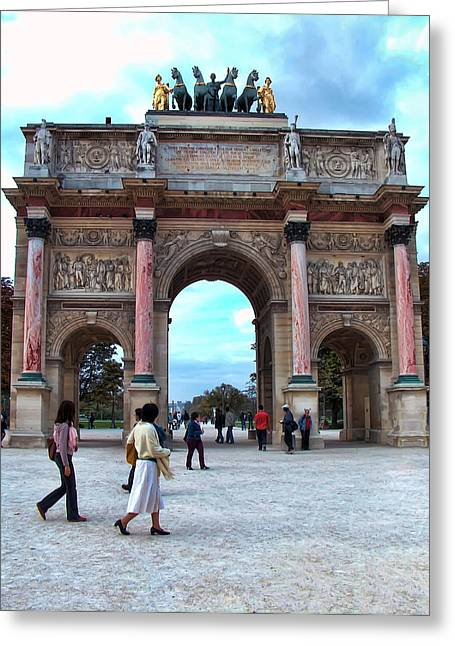 Francois Digital Art Greeting Cards - Arc de Triomphe Greeting Card by Paris France