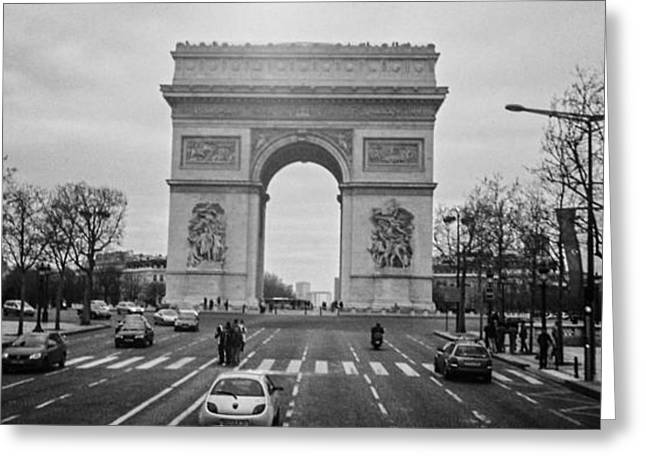 Arc De Triomphe Greeting Card by Steven  Taylor