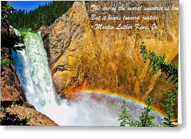Moral Greeting Cards - Arc Of The Moral Universe Greeting Card by Greg Norrell